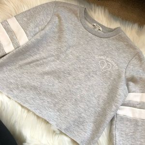 Forever 21 Cropped Heartbreaker Sweatshirt